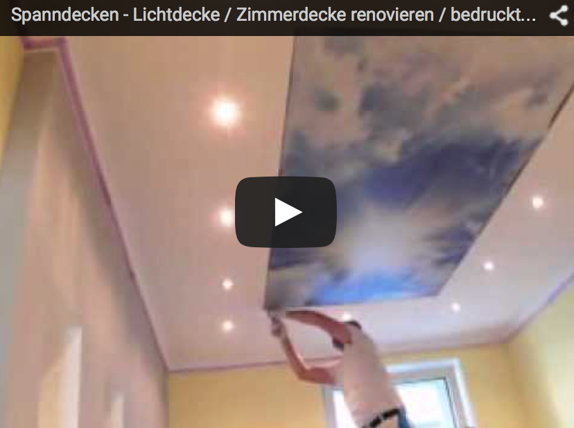 Lichtdecke Video